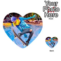 Skateboarding On Water Playing Cards 54 (heart)  by icarusismartdesigns