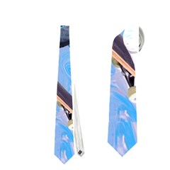 Skateboarding On Water Neckties (one Side)  by icarusismartdesigns