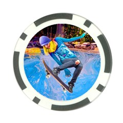 Skateboarding On Water Poker Chip Card Guards by icarusismartdesigns