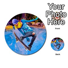 Skateboarding On Water Multi Purpose Cards (round)  by icarusismartdesigns