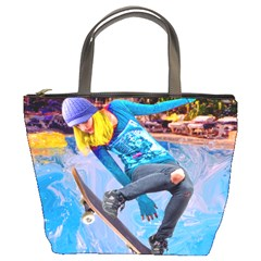 Skateboarding On Water Bucket Bags by icarusismartdesigns