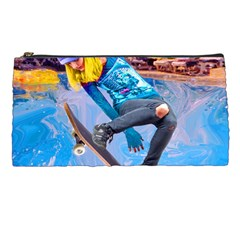 Skateboarding On Water Pencil Cases by icarusismartdesigns