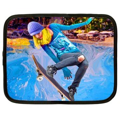 Skateboarding On Water Netbook Case (xl)  by icarusismartdesigns