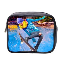 Skateboarding On Water Mini Toiletries Bag 2 Side by icarusismartdesigns