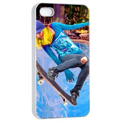 Skateboarding On Water Apple Iphone 4/4s Seamless Case (white) by icarusismartdesigns