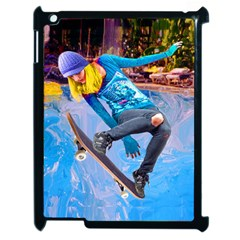Skateboarding On Water Apple Ipad 2 Case (black) by icarusismartdesigns