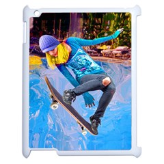 Skateboarding On Water Apple Ipad 2 Case (white) by icarusismartdesigns