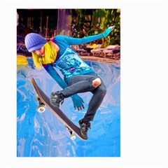 Skateboarding On Water Large Garden Flag (two Sides) by icarusismartdesigns