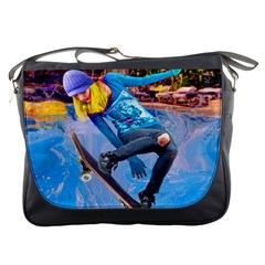 Skateboarding On Water Messenger Bags by icarusismartdesigns