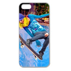 Skateboarding On Water Apple Seamless Iphone 5 Case (clear) by icarusismartdesigns