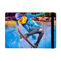 Skateboarding On Water Apple Ipad Mini Flip Case by icarusismartdesigns