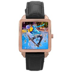 Skateboarding On Water Rose Gold Watches by icarusismartdesigns