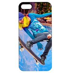 Skateboarding On Water Apple Iphone 5 Hardshell Case With Stand by icarusismartdesigns