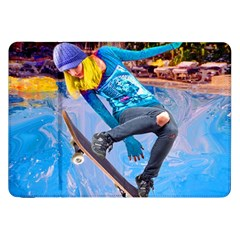 Skateboarding On Water Samsung Galaxy Tab 8 9  P7300 Flip Case by icarusismartdesigns