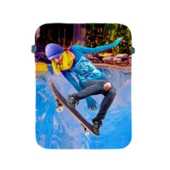 Skateboarding On Water Apple Ipad 2/3/4 Protective Soft Cases by icarusismartdesigns