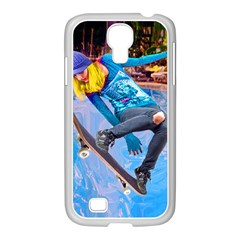 Skateboarding On Water Samsung Galaxy S4 I9500/ I9505 Case (white) by icarusismartdesigns