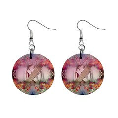 Nature And Human Forces Cowcow Mini Button Earrings