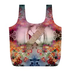Nature And Human Forces Cowcow Full Print Recycle Bags (l)  by infloence