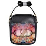 Nature and Human Forces Girls Sling Bags Front