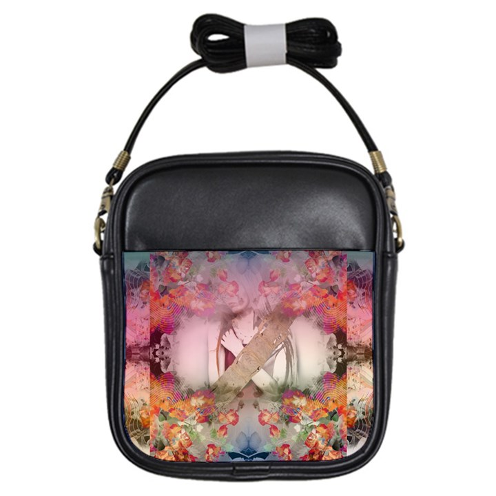 Nature and Human Forces Girls Sling Bags