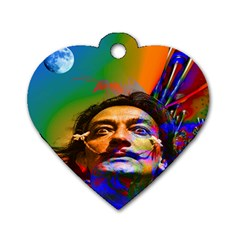 Dream Of Salvador Dali Dog Tag Heart (two Sides) by icarusismartdesigns