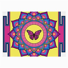 Butterfly Mandala Large Glasses Cloth (2 Side) by GalacticMantra