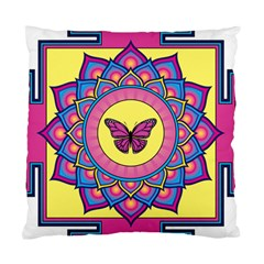 Butterfly Mandala Standard Cushion Cases (two Sides)  by GalacticMantra