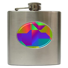 Colorful Gradient Shapes Hip Flask (6 Oz) by LalyLauraFLM