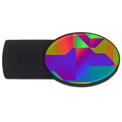 Colorful Gradient Shapes Usb Flash Drive Oval (2 Gb) by LalyLauraFLM