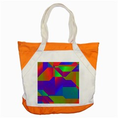 Colorful Gradient Shapes Accent Tote Bag by LalyLauraFLM