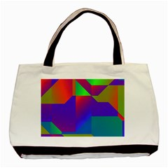 Colorful Gradient Shapes Basic Tote Bag (two Sides) by LalyLauraFLM