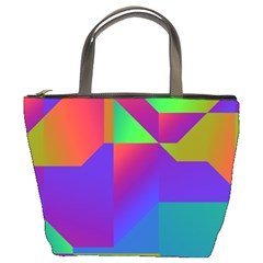 Colorful Gradient Shapes Bucket Bag by LalyLauraFLM