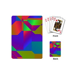 Colorful Gradient Shapes Playing Cards (mini) by LalyLauraFLM