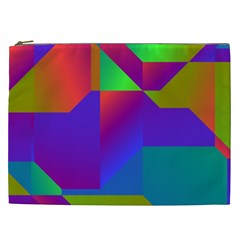 Colorful Gradient Shapes Cosmetic Bag (xxl) by LalyLauraFLM