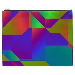 Colorful Gradient Shapes Cosmetic Bag (xxxl) by LalyLauraFLM