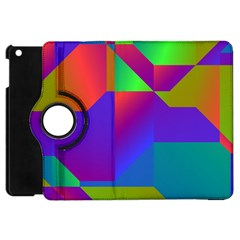 Colorful Gradient Shapes Apple Ipad Mini Flip 360 Case by LalyLauraFLM