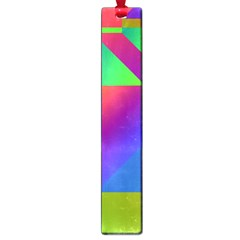 Colorful Gradient Shapes Large Book Mark by LalyLauraFLM