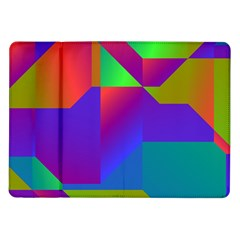 Colorful Gradient Shapes Samsung Galaxy Tab 10 1  P7500 Flip Case by LalyLauraFLM