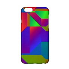 Colorful Gradient Shapes Apple Iphone 6 Hardshell Case by LalyLauraFLM