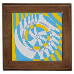 Abstract Flower In Concentric Circles Framed Tile by LalyLauraFLM