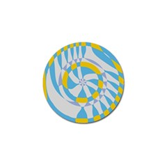 Abstract Flower In Concentric Circles Golf Ball Marker (4 Pack) by LalyLauraFLM