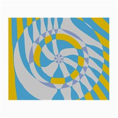 Abstract Flower In Concentric Circles Small Glasses Cloth (2 Sides) by LalyLauraFLM