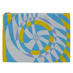 Abstract Flower In Concentric Circles Cosmetic Bag (xxl) by LalyLauraFLM