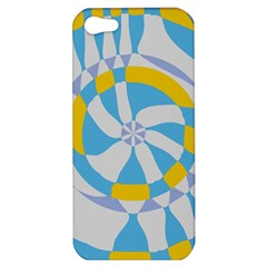 Abstract Flower In Concentric Circles Apple Iphone 5 Hardshell Case by LalyLauraFLM