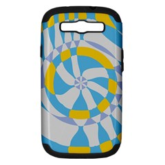 Abstract Flower In Concentric Circles Samsung Galaxy S Iii Hardshell Case (pc+silicone) by LalyLauraFLM