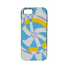 Abstract Flower In Concentric Circles Apple Iphone 5 Classic Hardshell Case (pc+silicone) by LalyLauraFLM