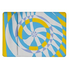 Abstract Flower In Concentric Circles Samsung Galaxy Tab 10 1  P7500 Flip Case by LalyLauraFLM