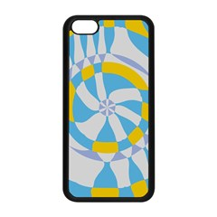 Abstract Flower In Concentric Circles Apple Iphone 5c Seamless Case (black) by LalyLauraFLM