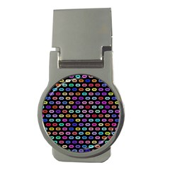 Colorful Round Corner Rectangles Pattern Money Clip (round)