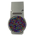 Colorful round corner rectangles pattern Money Clip (Round) Front